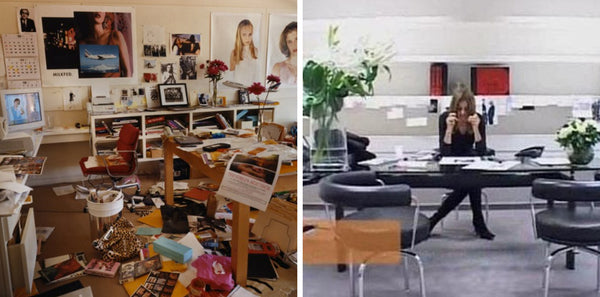 Sophia Coppola's office vs. Parisian Vogue office by Carine