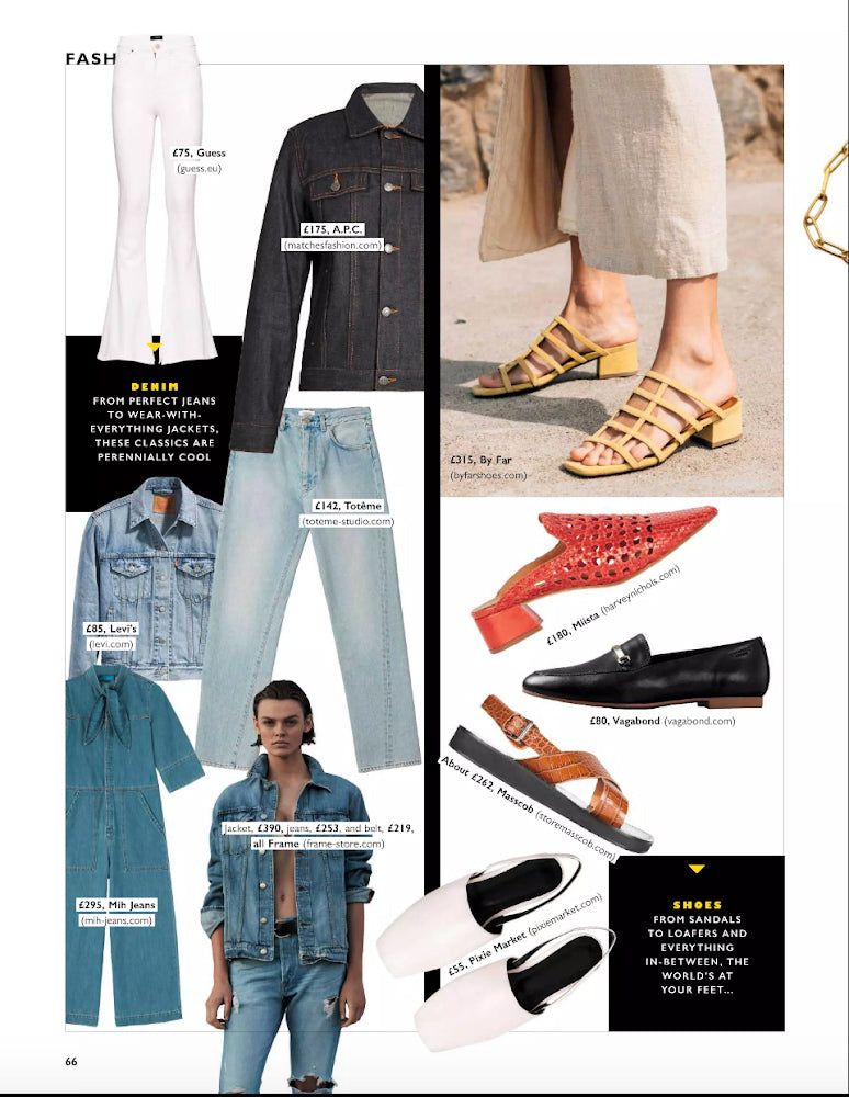 Miista Ida Ruby Handwoven heels featured in Grazia