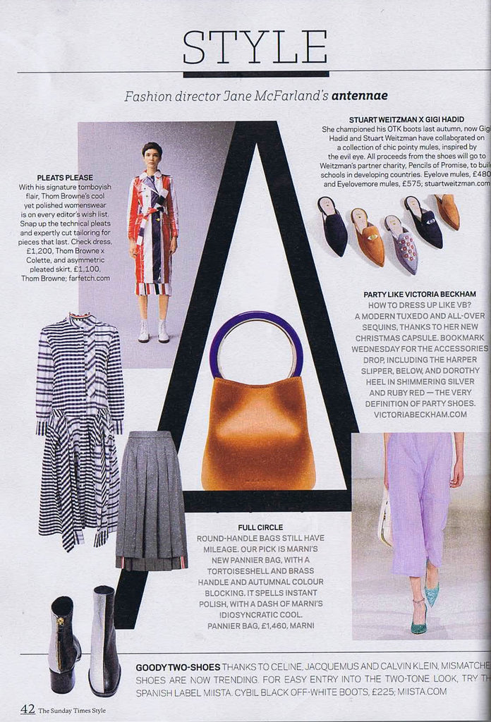 Miista Cybil Boots featured in Sunday Times: Style Section