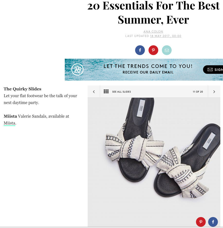 valerie Zig Zag Slides fetured in Refinery 29