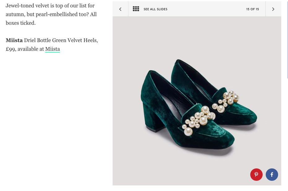 Driel Bottle Green Heels from Miista diffusion Line E8 BY MIISTA featured at Refinery29