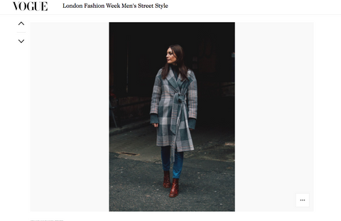 Miista Cybil Brown Boots featured in British Vogue Streetstyle