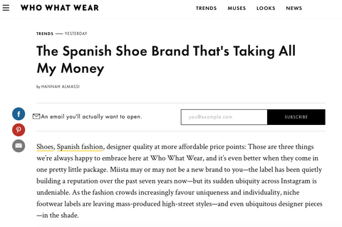 The Spanish Shoe Brand That's Taking All My Money Who What Wear featuring Miista