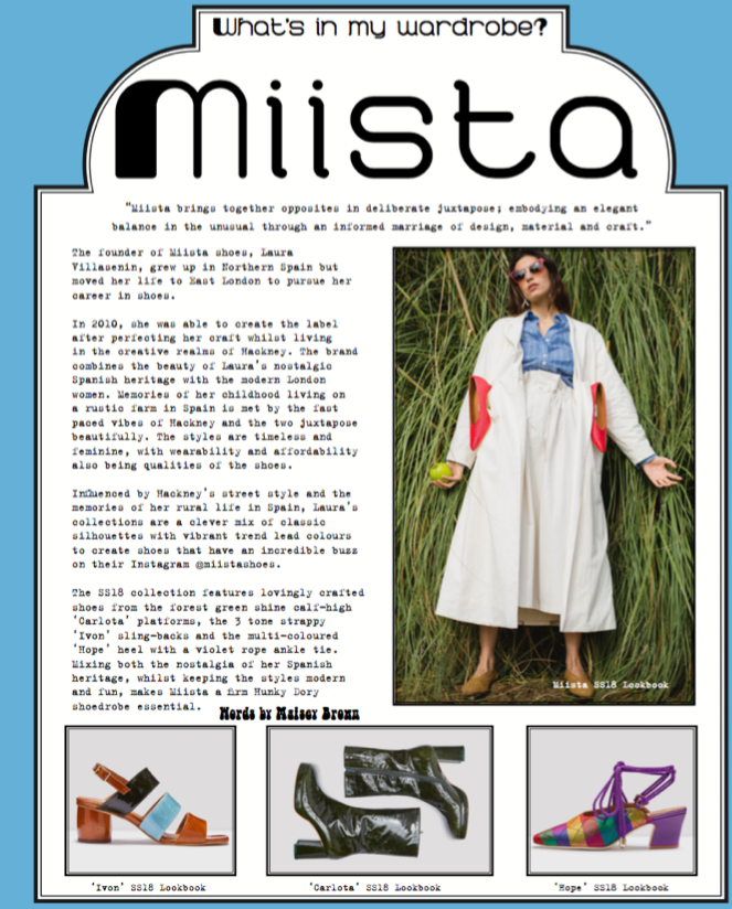 Miista Featured In Hunky Dory Magazine