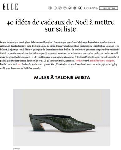 Miista featured in Elle France