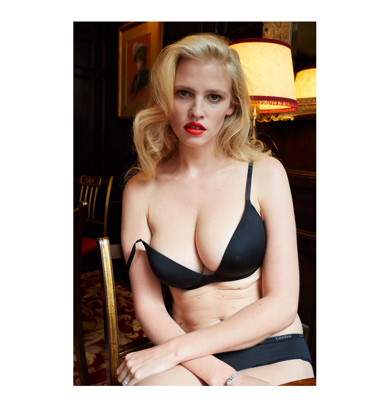 Lara Stone for System Magazine. Ph by Juergen Teller.