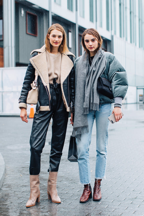 Street style at New York Fashion Week Fall/Winter featuring MIISTA boots