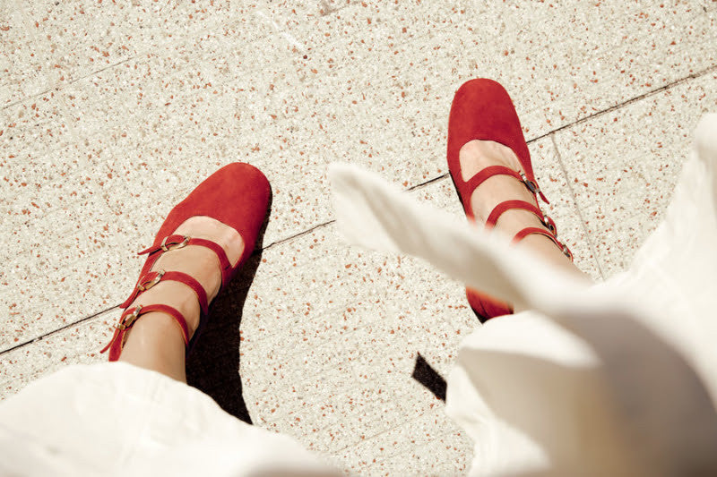 mary jane shoes miista miistashoes red suede