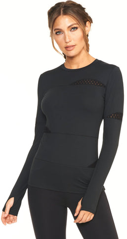 Camille Long Sleeve - Black Onyx - Lukka Lux