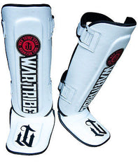 War Tribe Classic Leather Shin Guards MMA Muay Thai Training