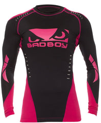 Bad Boy Women's Sphere Jiu Jitsu Rash Guard Black - Pink