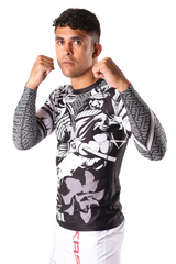 Fuji Mushashi Jiu Jitsu Rash Guard For NOGI Grappling MMA