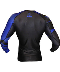 Fuji Freestyle IBJJF Ranked Jiu Jitsu Rash Guard NOGI Grappling Blue