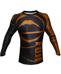 Fuji Freestyle IBJJF Ranked Jiu Jitsu Rash Guard NOGI Grappling Brown