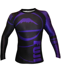 Fuji Freestyle IBJJF Ranked Jiu Jitsu Rash Guard NOGI Grappling Purple