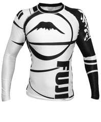 Fuji Freestyle IBJJF Ranked Jiu Jitsu Rash Guard NOGI Grappling White
