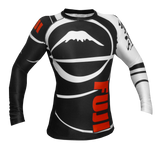 Fuji ranked rash guard for IBJJF Black Belt Competition: Antimicrobial, 4-way stretch, sublimated artwork.  SOLD AT BUSHIDOWAREHOUSE.COM