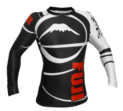 Fuji Freestyle IBJJF Ranked Jiu Jitsu Rash Guard For Black Belt NOGI Grappling