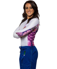 Fuji Women's Kimono Jiu Jitsu Rash Guard For NOGI Grappling MMA