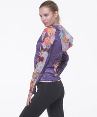 Grips Women's Athletic Power Flower Climatech Wind Jacket