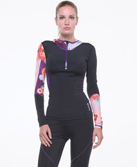 Grips Power Flower Women's Athletic Compression Training Set Jacket
