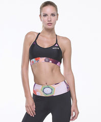 GRIPS WOMEN'S ATHLETIC POWER FLOWER X-Strap Sports Bra
