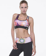 Grips Women's Athletic Power Flower Sports Bra
