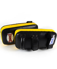 Sandee Large Extra Thick Black & Yellow Flat Thai Kick Pads