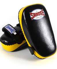 Sandee Black & Yellow Curved Thai Leather Kick Pad