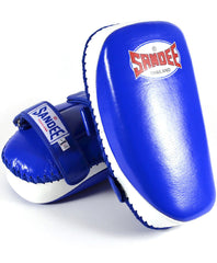 Sandee Blue & White Curved Thai Leather Kick Pad