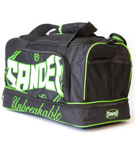 Sandee Junior Heavy-Duty Black & Green Holdall / Gym Bag