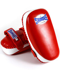 Sandee Red & White Curved Thai Leather Kick Pad