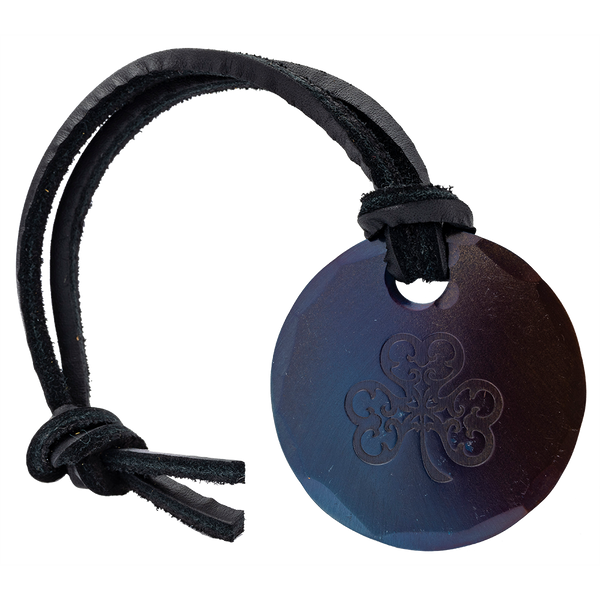Seamus Forged Small Circular Bag Tag