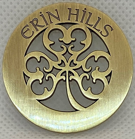 Erin Hills Logo Cutout Ball Mark