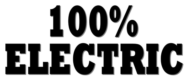 100% ELECTRIC Reflective Decal