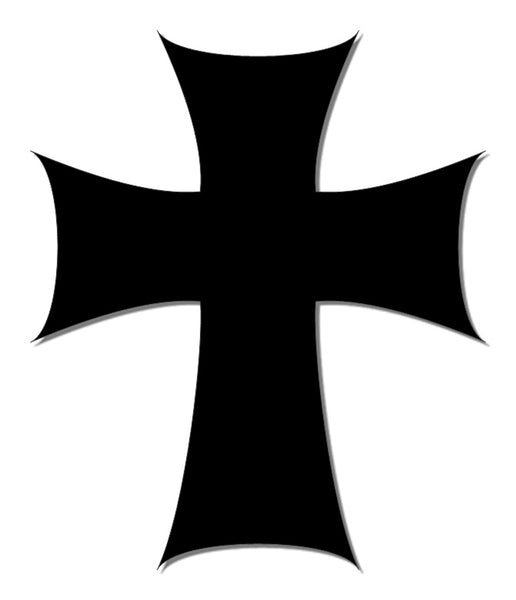 Black reflective cross decal