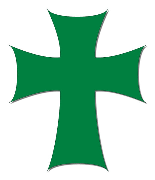 Green reflective cross decal