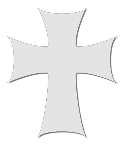 White reflective cross decal