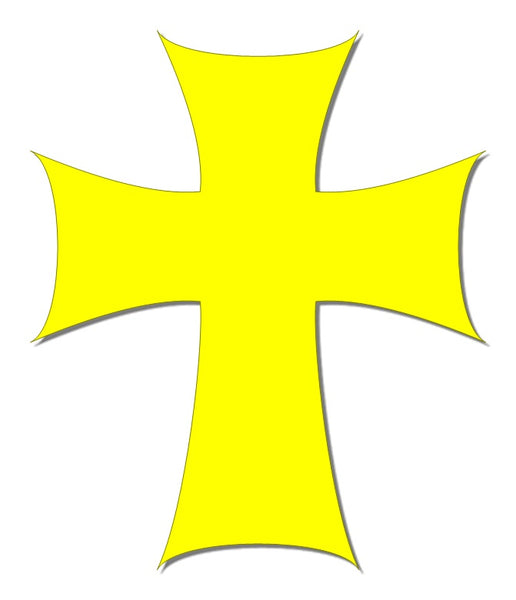 Yellow reflective cross decal