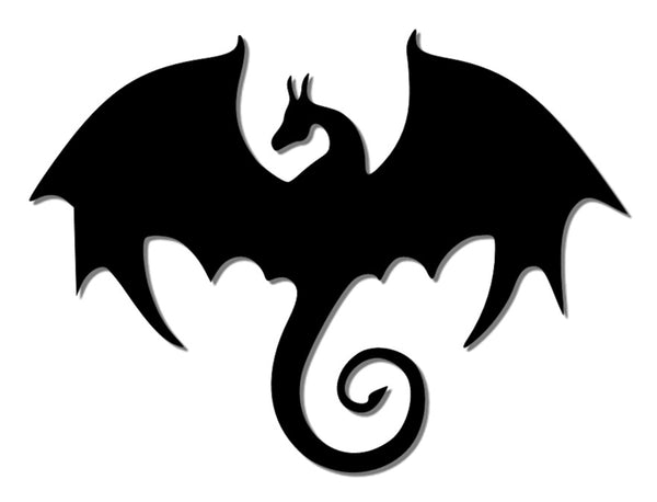 Black reflective dragon decal
