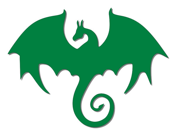 Green reflective dragon decal