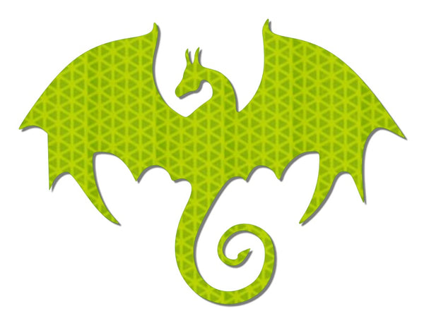 Hi viz yellow reflective dragon decal