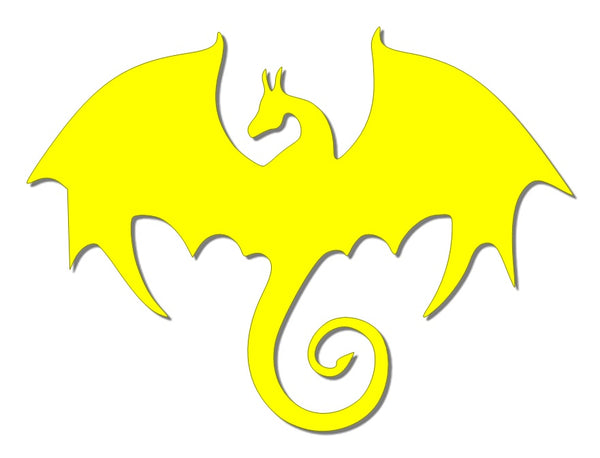 Yellow reflective dragon decal