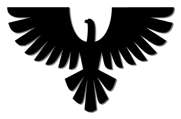 Black reflective eagle decal