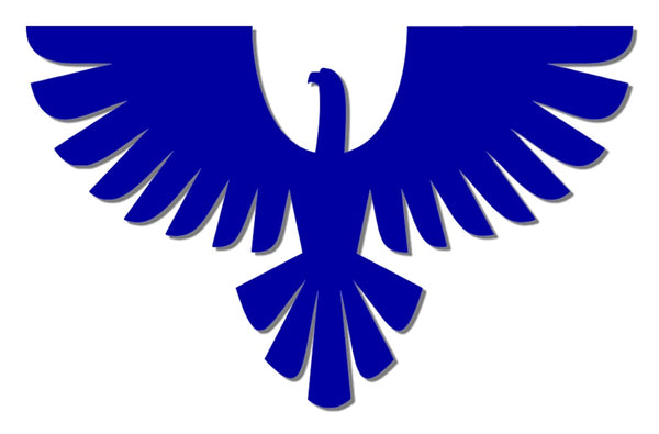 Blue reflective eagle decal