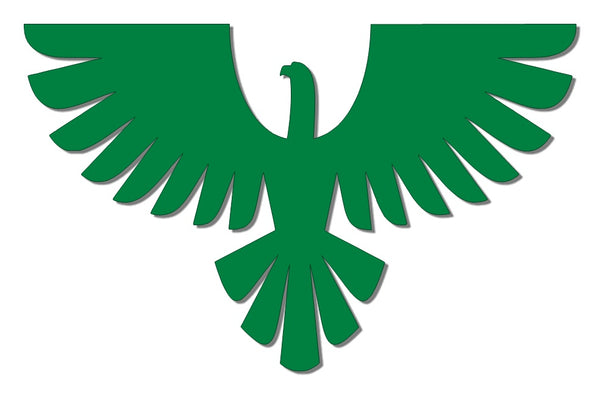 Green reflective eagle decal