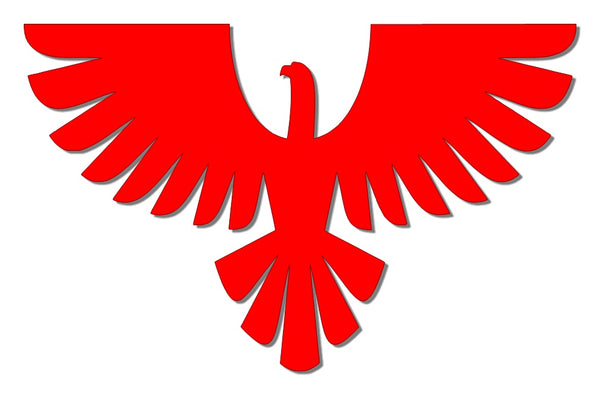 Red reflective eagle decal
