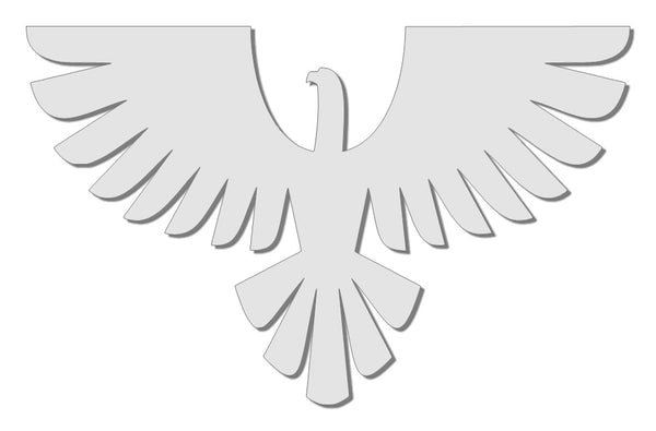 White reflective eagle decal