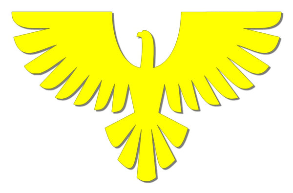 Yellow reflective eagle decal