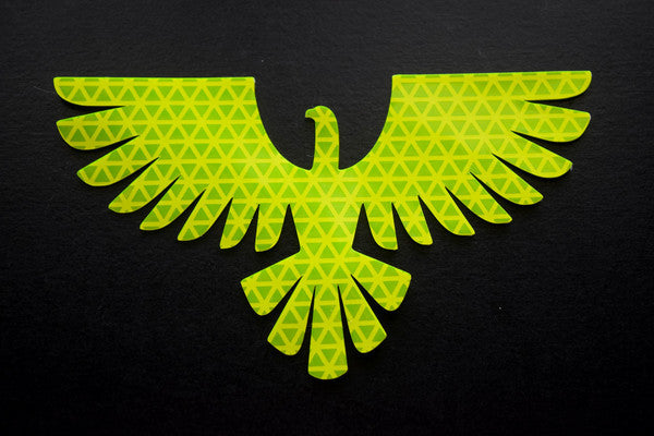 Hi viz yellow reflective eagle decal